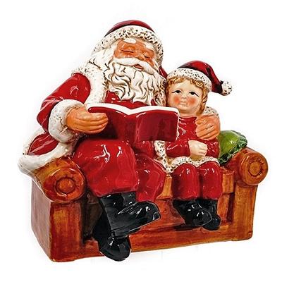 Фигурка Дед Мороз с книгой