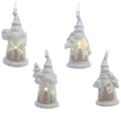 Ёлочное украшение с подсветкой Дед Мороз/Снеговик