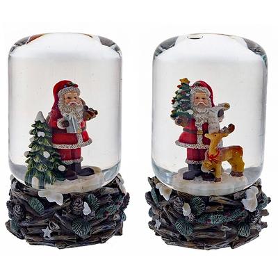 Водный шар Дед Мороз с ёлкой