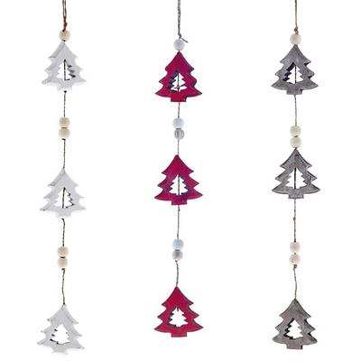 Деревянное новогоднее украшение