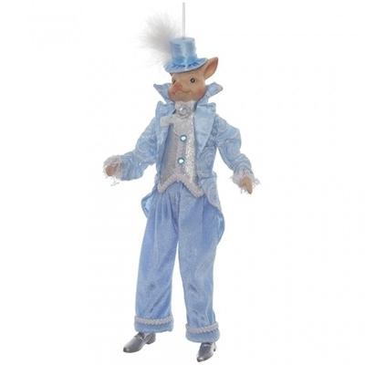Свинья в голубом костюме