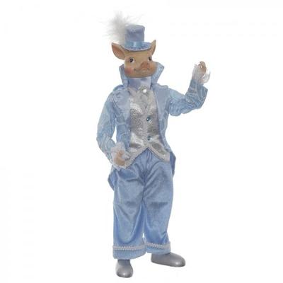 Свинка в голубом костюме