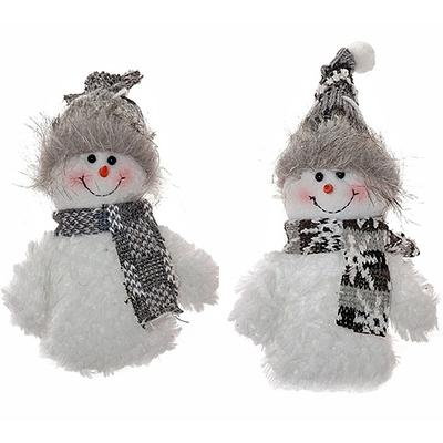 """Новогодняя мягкая игрушка """"Снеговик"""", 2 вида"""