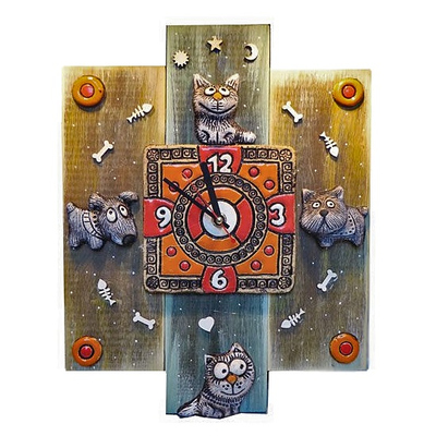 Сувенирные часы (шамот)