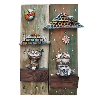 """Панно """"Коты в домике"""""""