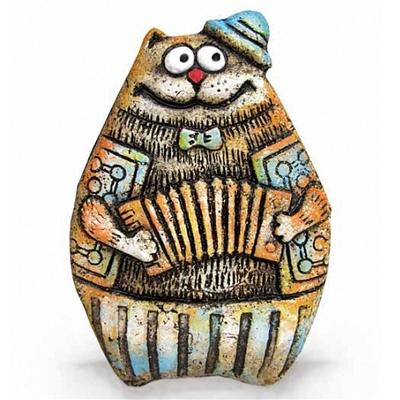 Кот с аккордеоном