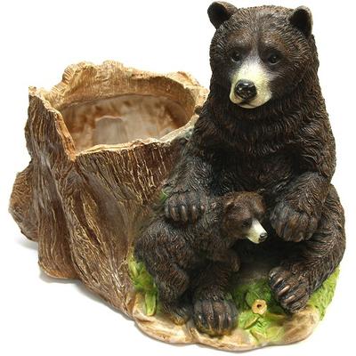 """Кашпо садовое """"Медведи у пня"""""""