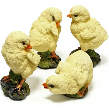 """Набор из четырех садовых фигурок """"Цыплята"""""""