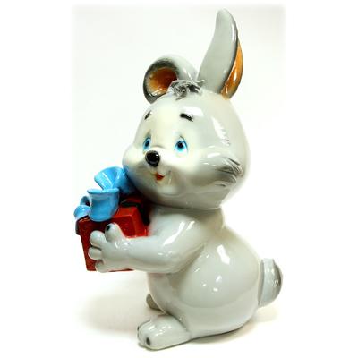 """Копилка """"Заяц с подарком"""""""