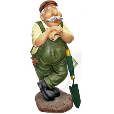 """Сувенир для дачи """"Мужик с лопатой (вилами, граблями)"""""""